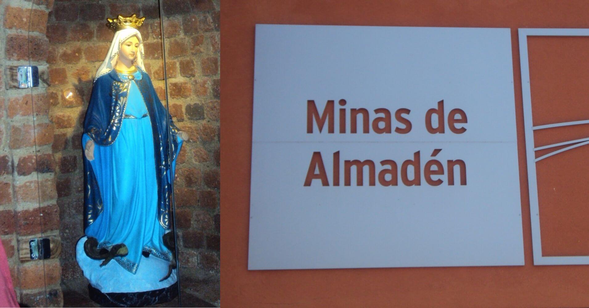 Virgen de la Mina Medalla Milagrosa. Minas de Alamadén. Ciuadad Real. Castilla la Mancha.