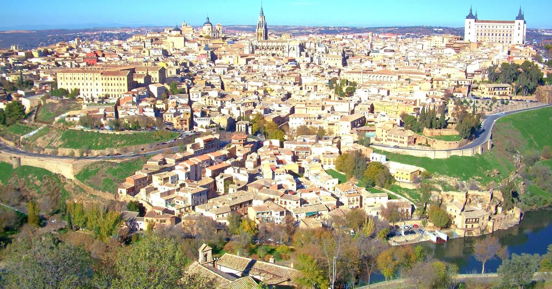 Vista panorámica de la Ciudad de toledo. Castilla la Mancha.