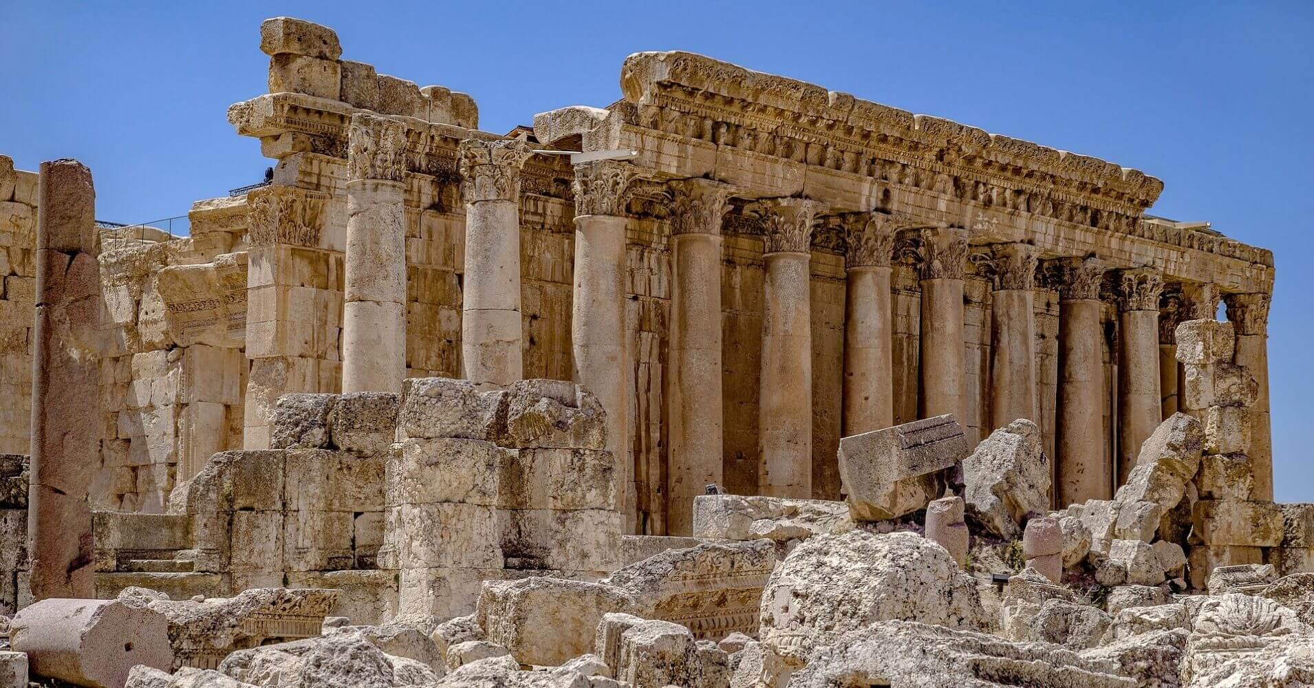 Yacimiento Arqueológico de Baalbek en Líbano.